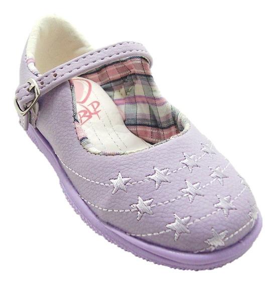 Sapato Infantil Conforto Bloompy Lilás 2067-13 Dicastros
