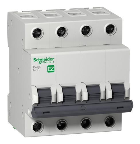 Interruptor Aut. Termomagnético Easy9 Tetrapolar 50a Curva C