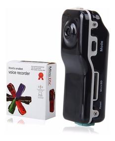 Mini Dv Filmadora Hd Câmera Espiã Com Detector De Voz