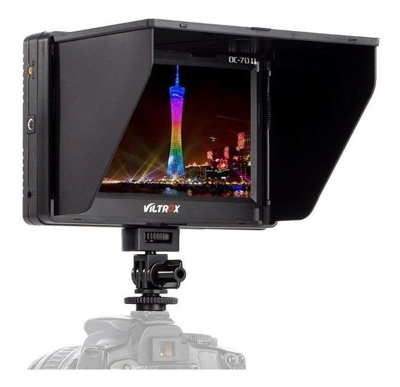 Monitor Viltrox Dc-70 Ex Ii Sdi E Hdmi + Bat Np-f550 Carrega