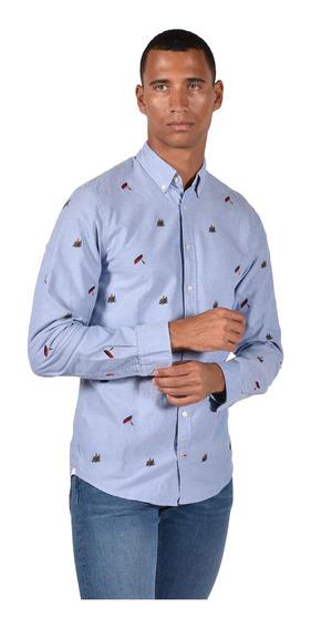 Camisa Ny Fit Tommy Hilfiger Azul Mw0mw03094-902 Hombre