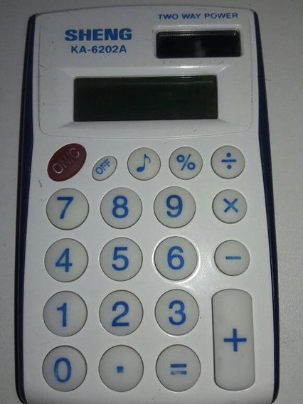 Calculadora Sheng Ka-6202a Com Bipe Sinal Sonoro Carta Regis
