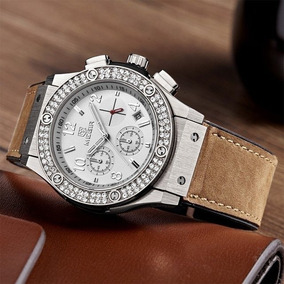 Megir 2034 Marca De Luxo Strass Cristal De Diamante Relógio