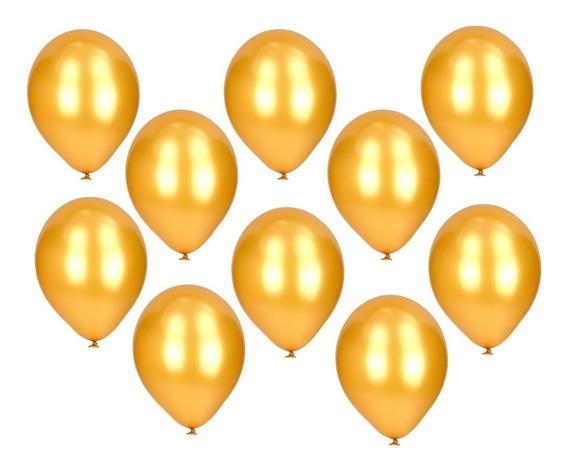Globos Dorados Perlados X 25 U - Lollipop