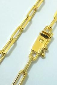 Corrente 70cm Masculina Banhada A Ouro 18k Parece Ouro
