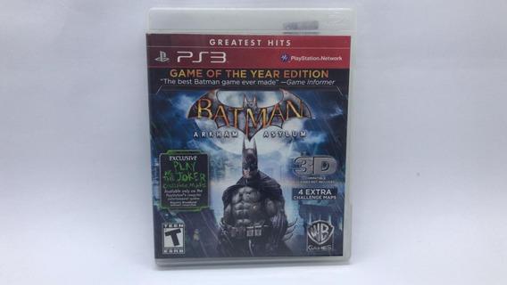 Batman Arkham Asylum - Ps3 - Mídia Física Em Cd Original