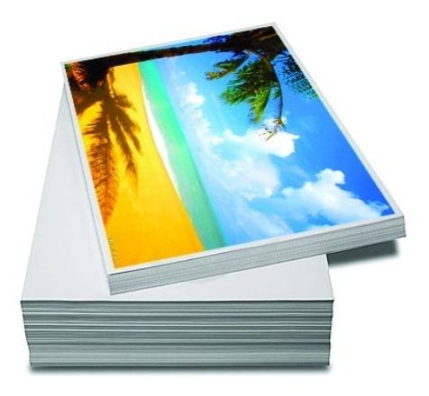 60 Folhas Papel Fotográfico 10x15 Glossy Paper Papelaria