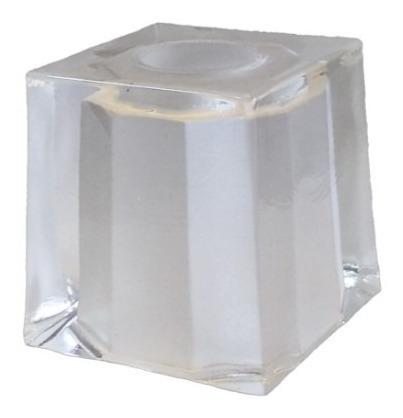 Pack X2 Tulipa Vidrio Repuesto G9 Cubo Blanca Para Zocalo G9