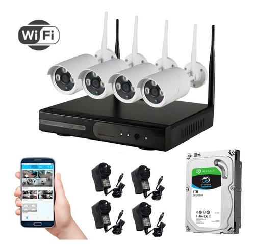 Kit Seguridad Tomsan Wifi Dvr/nvr + 4 Camaras + Hd 1tb