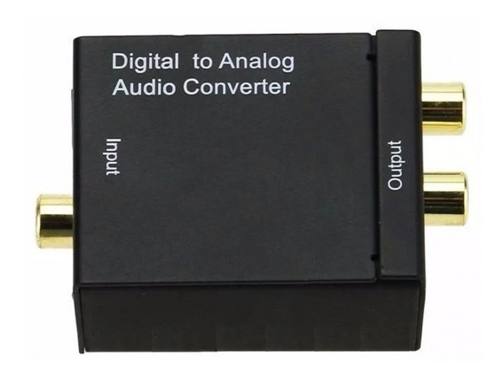 Conversor Audio Optica Digital Fibracoaxial P/ Rca Analogico