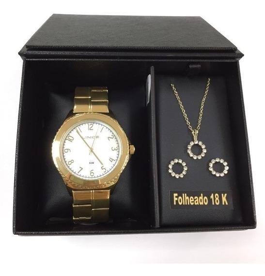 Relógio Lince Feminino Kit Lrg4429l Ku79 - 20