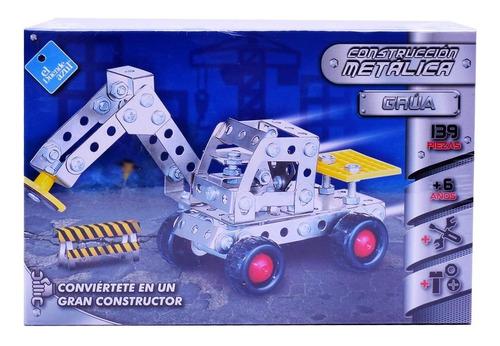 Juego De Construcción Metálica Grua 139 Piezas Tipo Mecano
