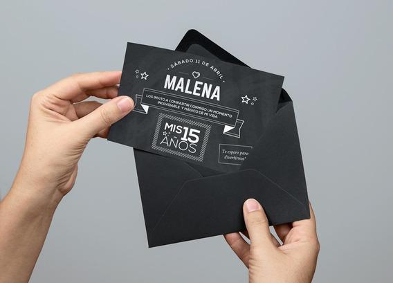 Tarjetas De Quince Años, Promopack De 50 Unidades Con Envío