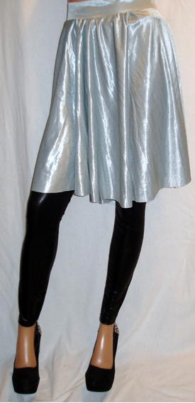 Pollera Vestir Talle Xl Plato Tipo Saten Brillante