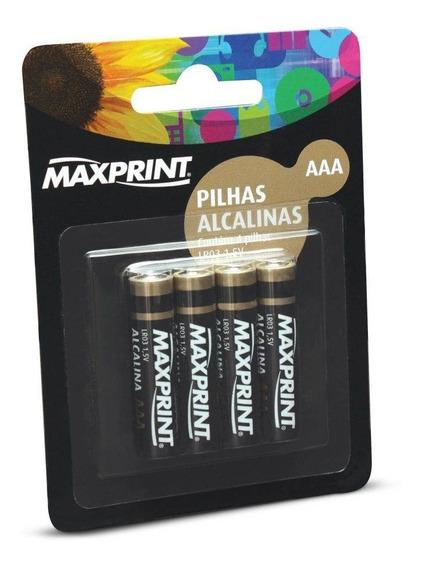 Pilha Alcalina Aaa Palito 4 Un Maxprint 75636-2