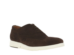 Zapato Hush Puppies Suede September Low Café
