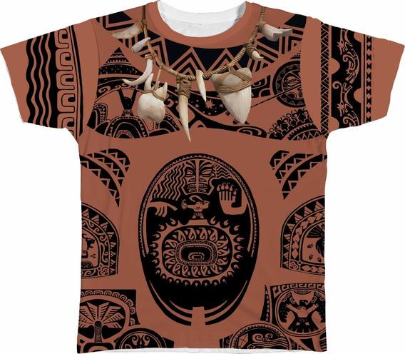 Body Camiseta Personalizada Pai Fantasia Moana Maui Tui