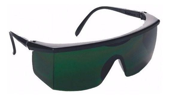 Óculos De Proteção Segurança Jaguar Verde Ir 5 - Kalipso