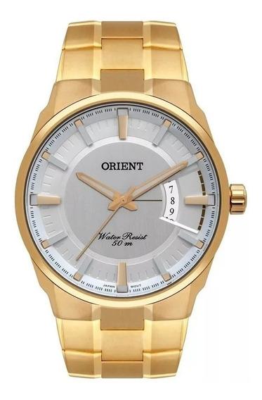 Relogio Orient Masculino Dourado Original Mgss1175a S1kx