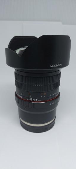 Lente Rokinon 14mm F 2.8 Sony
