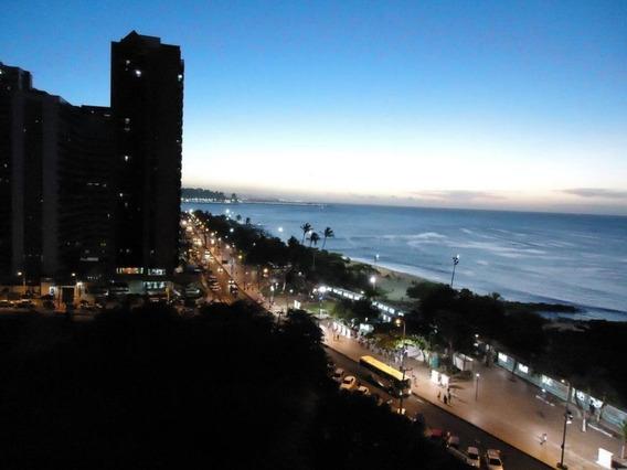Flat Com Maravilhosa Vista Para O Mar - Fl0046