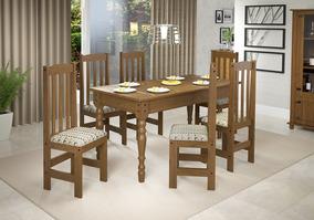 Conjunto 800 De Mesa 1,60 Com 6 Cadeiras Imbuia