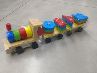 Tren Madera Figuras Juegos Didácticos Niños Infantil Montess