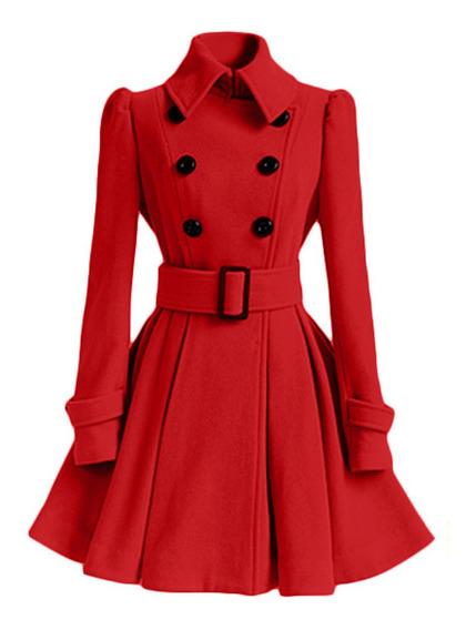 Abrigo De Las Mujeres De Moda Vintage Abrigo Larog Elegante