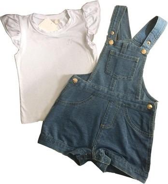 Conjunto Infantil Feminino Jardineira C/blusa Trick Nick