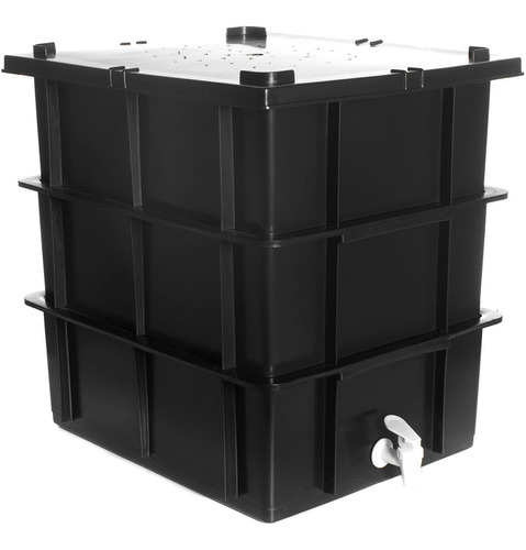 Composteira Doméstica 15 Litros Minhocas, Húmus E Serragem