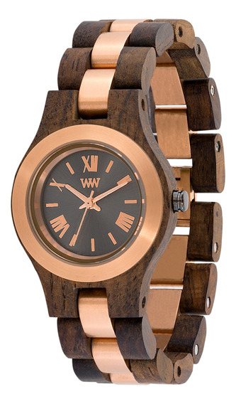 Relógio Wewood Criss Choco Rough Gold Limited Edition Wwcr11
