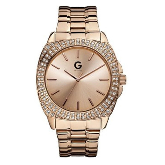 Reloj G By Guess Rock Out G11906g1 Oro Rosa Caballero