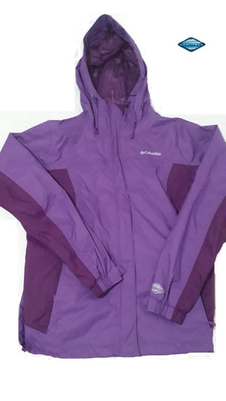 Campera Impermeable Columbia Arcadia 2 Violeta Mujer