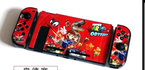 Case De Proteção, Capa Em Acrílico Nintendo Switch Mario Ody