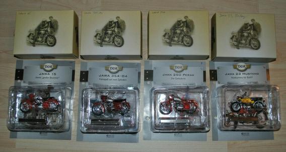 Moto Jawa - Coleção C/ 4 Miniaturas 1:24 Na Caixa, Raridade