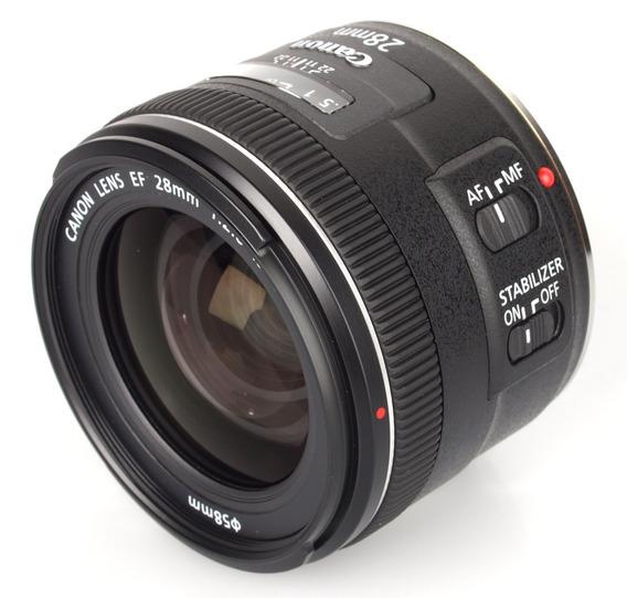 Lente Profissional Canon Ef 28mm F/2.8 Is Usm