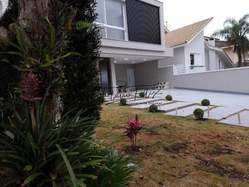 Imagem 1 de 15 de Casa A Venda 5 Suítes Área Gourmet Piscina Condomínio Arujá 5 - 746