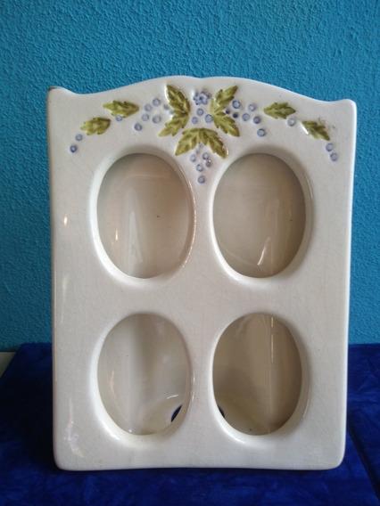 Porta Retrato Em Louça Porcelana Anos 30/40