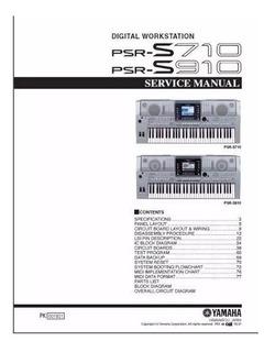 Manual De Serviço Teclado Yamaha ; Escolha O Modelo