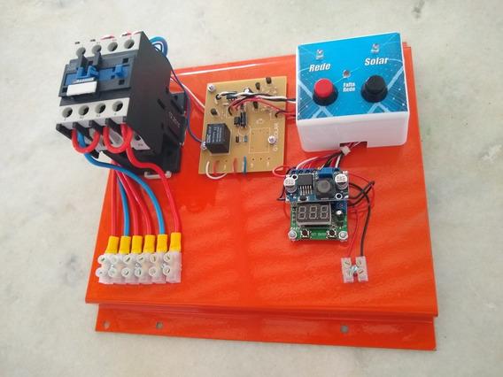 Sistema Transferência Automação Entre Solar E Rede 220v 32a