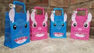 Bolsa Lilo Y Stich Combo X 25 Candy Bar Cumpleaños Evento Infantil Regalo Baby Shower Bautismo Decoracion Golosinera