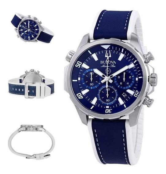 Reloj Bulova Hombre Marine Star, 96b287, Cronografo, 100m
