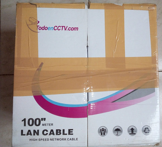 Bobina De Cable Utp Cat5e 100mt En20$