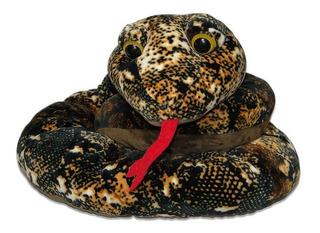 Cobra De Pelúcia Marrom - Grande
