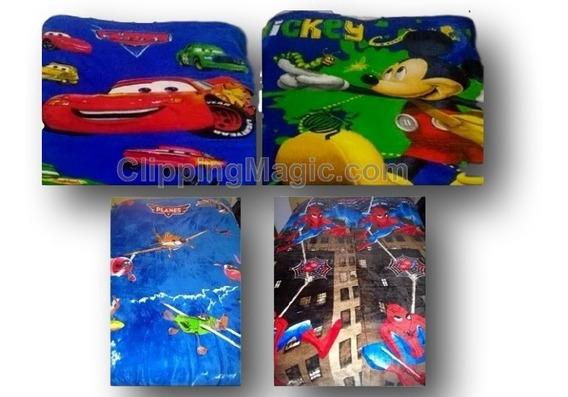 Manta Cobertor Infantil Personagens Herois E Princesas