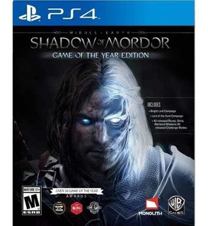 Juego Ps4 Middle Earth Shadow Of Mordor Game Of The Year