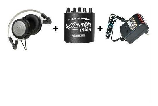 Fone Akg K414p + Amplificador Fone Power Click Db05 + Fonte