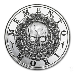 Moneda 2 Oz Plata Pura Memento Mori Coleccion Latin Allure