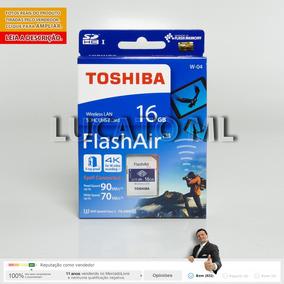 Sd Wifi Flashair Toshiba 16gb W04 Classe 10 Até 12x S/ Juros
