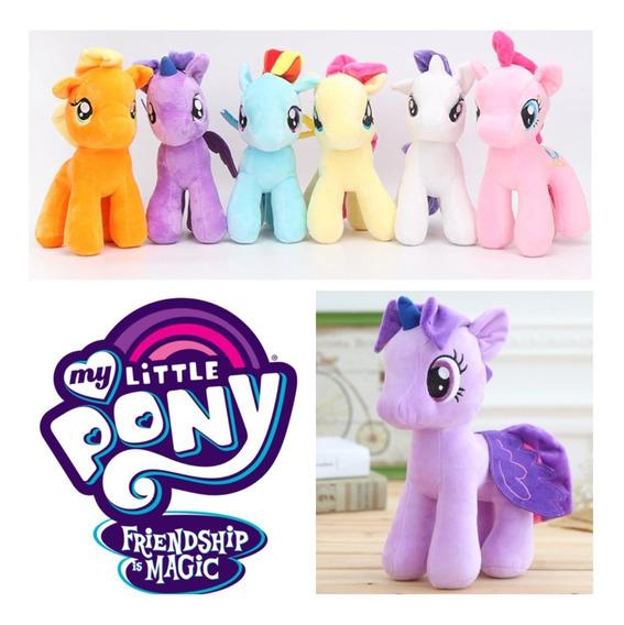 Coleção Completa My Little Pony Pelúcia Grande 25cm Pink Pie